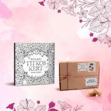 Könyvölelés Anyák napjára - Miniatűr titkos kert + Les Cadeaux de Flore keksz