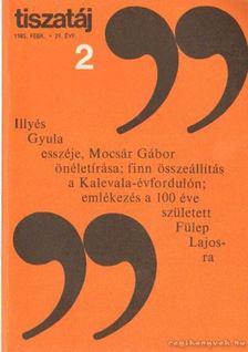 Vörös László - Tiszatáj 1985. február 39. évf. 2. [antikvár]