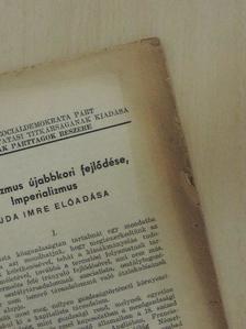 Vajda Imre - A kapitalizmus újabbkori fejlődése, Imperializmus [antikvár]