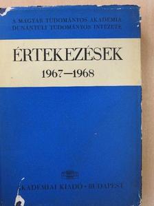 Andrásfalvy Bertalan - Értekezések 1967-1968 [antikvár]