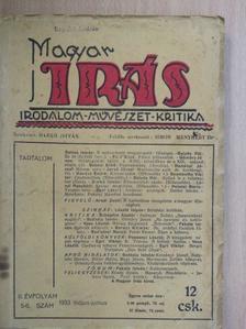 Dallos István - Magyar Irás 1933. május-június [antikvár]