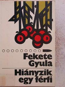 Fekete Gyula - Hiányzik egy férfi [antikvár]