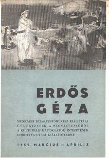 Kontha Sándor - Erdős Géza festőművész kiállítása [antikvár]