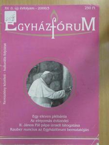Aszalós János - Egyházfórum 2000/3. [antikvár]