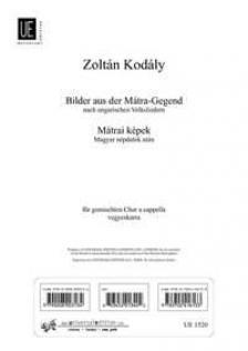 Kodály Zoltán - MÁTRAI KÉPEK MAGYAR NÉPDALOK UTÁN VEGYESKARRA