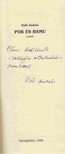 Oláh András - Por és hamu (dedikált) [antikvár]