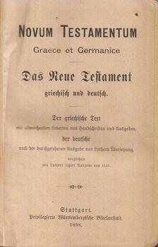 Martin Luther - Novum Testamentum Graece et Germanice / Das Neue Testament griechisch und deutsch [antikvár]
