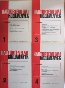 Bencze László - Hadtörténelmi Közlemények 1981/1-4. [antikvár]