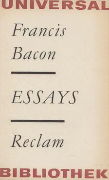 Francis Bacon - Ausgewählte Essays [antikvár]