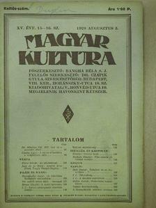 Csóka Lajos - Magyar Kultúra 1928. augusztus 5. [antikvár]
