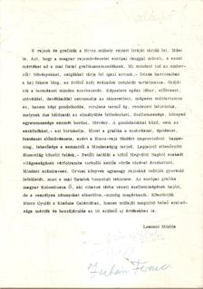 LOSONCI MIKLÓS - Hincz Gyula kiállításának megnyitója (meghívó) (aláírt) [antikvár]