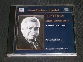 BEETHOVEN - PIANO WORKS VOL.4 - SONATAS NOS.11-13 CD SCHNABEL