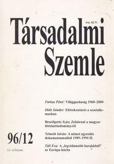 Bihari Mihály - Társadalmi Szemle 1996/12 [antikvár]