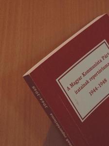 Szabó Éva - A Magyar Kommunista Párt iratainak repertóriuma [antikvár]