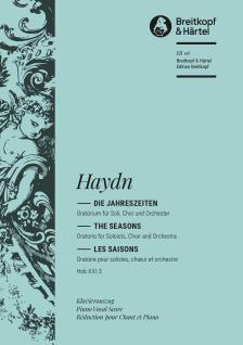 HAYDN J. - DIE JAHRESZEITEN KLAVIERAUSZUG (KLENGEL) DEUTSCH / ENGLISCH / FRANZÖSISCH