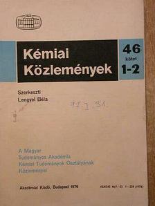Burger Kálmán - Kémiai Közlemények 1976/1-2. [antikvár]