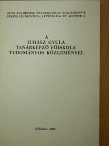 Avasi Béla - A Juhász Gyula Tanárképző Főiskola tudományos közleményei [antikvár]