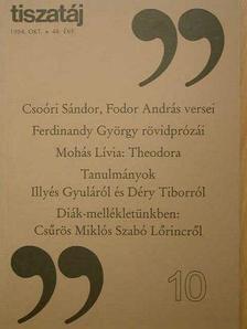 Alföldy Jenő - Tiszatáj 1994. október [antikvár]