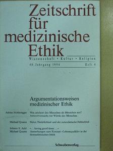 Adrian Holderegger - Zeitschrift für medizinische Ethik 1994/4 [antikvár]