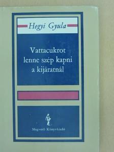Hegyi Gyula - Vattacukrot lenne szép kapni a kijáratnál [antikvár]