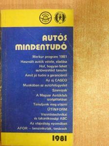 Dr. Búza Péter - Autós mindentudó 1981 [antikvár]