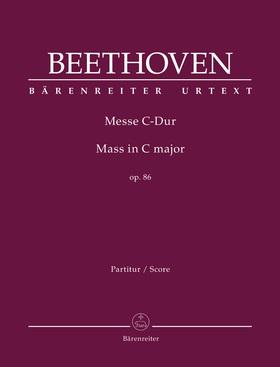 BEETHOVEN - MESSE C-DUR OP.86 PARTITUR, URTEXT (BARRY COOPER)