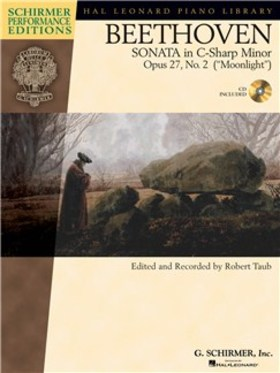 "BEETHOVEN - SONATA IN c-sharp  MINOR OP.27, NO.2 (""MOONLIGHT"") FOR PIANO CD INCLUDED, EDITED BY ROBERT TAUB"