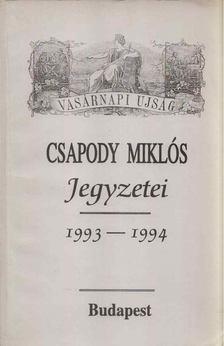Csapody Miklós - Csapody Miklós jegyzetei 1993-1994 [antikvár]
