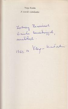 Varga Katalin - A szavak száműzetése (dedikált) [antikvár]