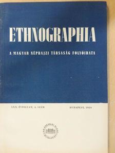 Boross Marietta - Ethnographia 1959. 4. szám [antikvár]