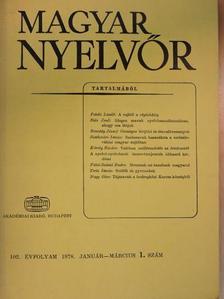 Bencédy József - Magyar Nyelvőr 1978. január-március [antikvár]