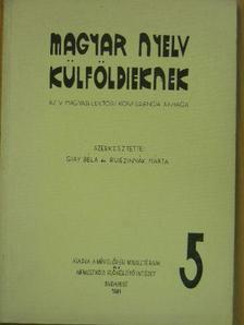 Bethlenfalvy Géza - Magyar nyelv külföldieknek 5. [antikvár]