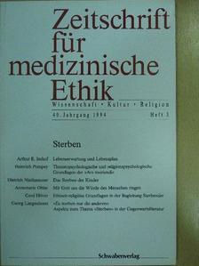Annemarie Ohler - Zeitschrift für medizinische Ethik 1994/3 [antikvár]