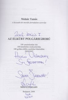 MOLNÁR TAMÁS - Polgárháború (Dedikált) [antikvár]