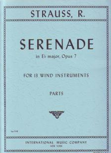 STRAUSS RICHARD - SERENADE IN Eb MAJOR, OP.7 FOR 13 WIND INSTRUMENTS, PARTS