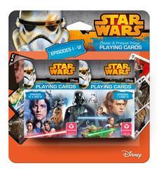 Cartamundi - Star Wars I-VI dupla kártya, 2x55 lap