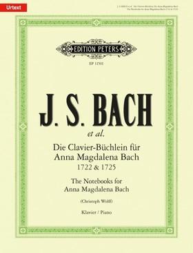 J. S. Bach - DIE CLAVIER-BÜCHLEIN FÜR ANNA MAGDALENA BACH 1722 & 1725 (CHR. WOLFF) URTEXT