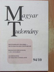 Bech Mihály - Magyar Tudomány 1994. október [antikvár]