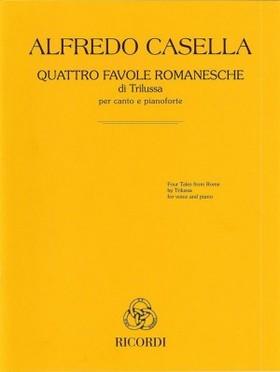 CASELLA - QUATTRO FAVOLE ROMANESCHE DI TRILUSSA PERCANTO E PIANOFORTE