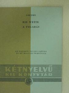 Goethe - A fogadás [antikvár]