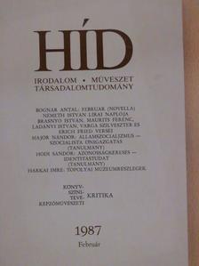 Bognár Antal - Híd 1987. február [antikvár]