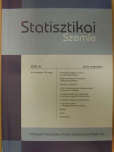Dövényi Zoltán - Statisztikai Szemle 2009. július-augusztus [antikvár]