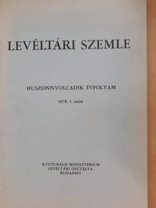 Béres András - Levéltári Szemle 1978. január-április [antikvár]