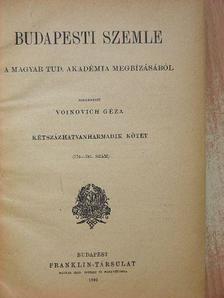 Alszeghy Zsolt - Budapesti Szemle 263. kötet 776-781. szám [antikvár]