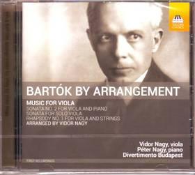 BARTÓK - BARTÓK BY ARRANGEMENT CD NAGY VIDOR