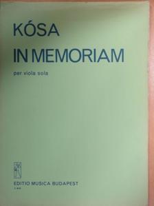 Kósa György - In memoriam [antikvár]