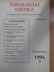 Bolyki János - Theologiai Szemle 1994/3. [antikvár]