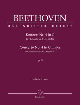 BEETHOVEN - KONZERT NR.4 IN G FÜR KLAVIER UND ORCHESTER OP.58 PARTITUR