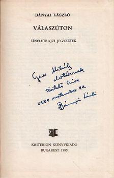 Bányai László - Válaszúton (dedikált) [antikvár]