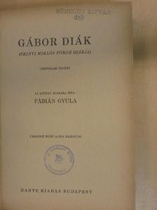 Fábián Gyula - Gábor diák [antikvár]